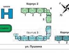 г. Лосино-Петровский, ул. Пушкина, 2, 4 (строит. адреса: ул. Пушкина, корп. 1, корп. 2)
